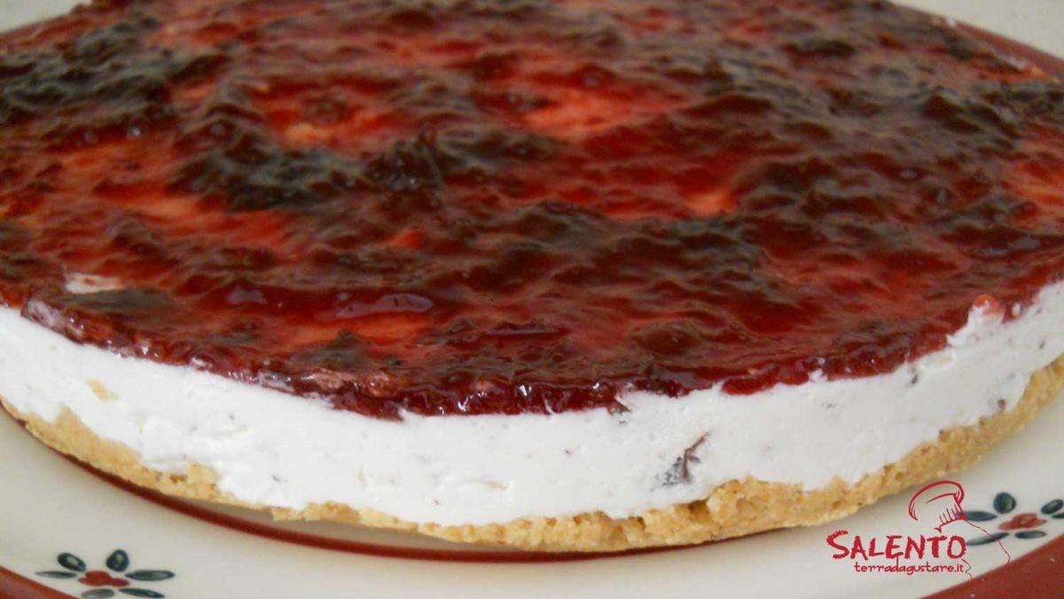 torta fredda ricotta e marmellata