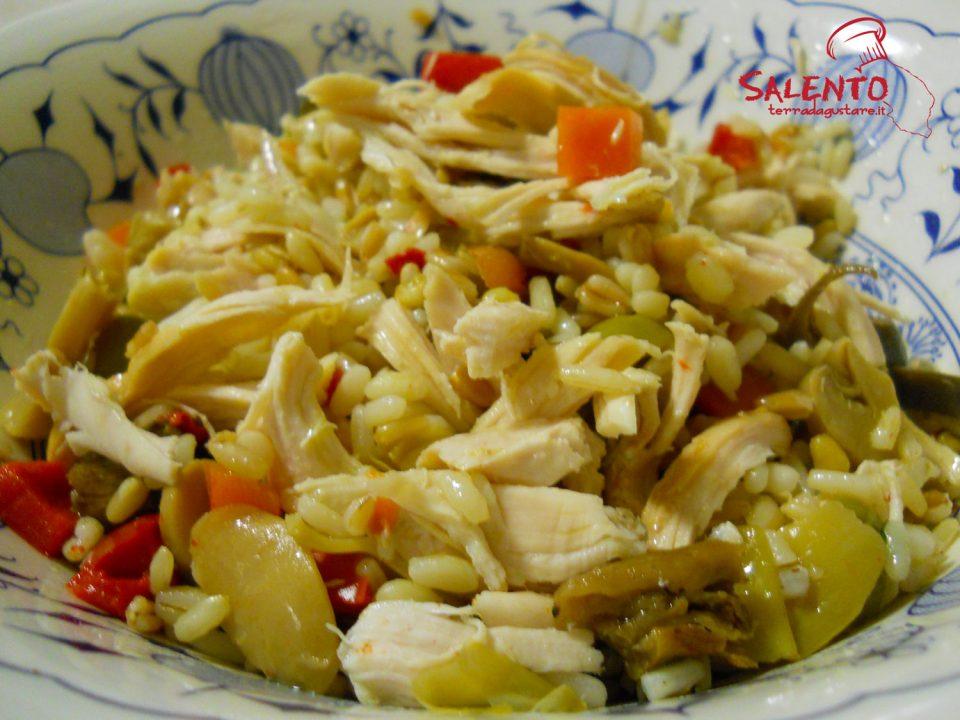 insalata di pollo e cereali