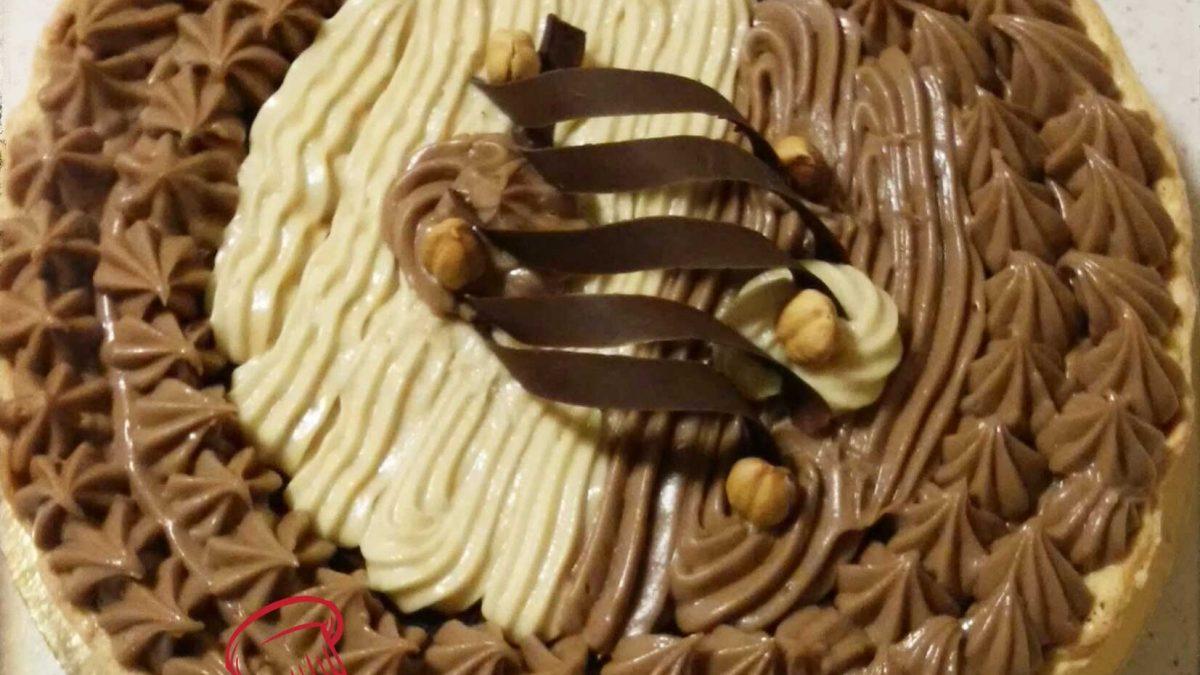 crostata bigusto con crema e nutella