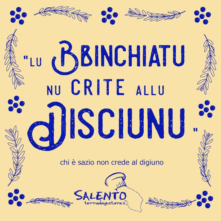 proverbi salentini: lu bbinchiatu