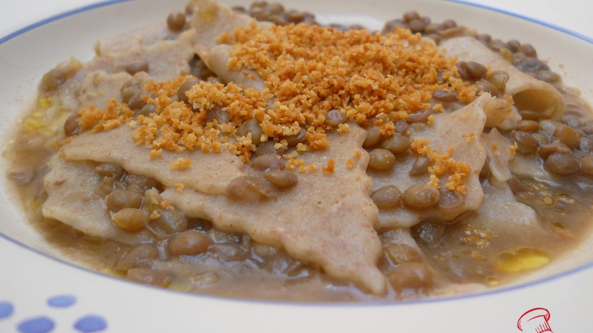 pasta fresca con lenticchie