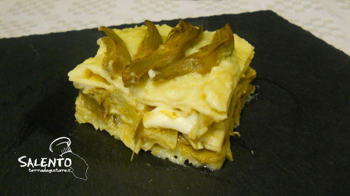 lasagne ai carciofi senza besciamella