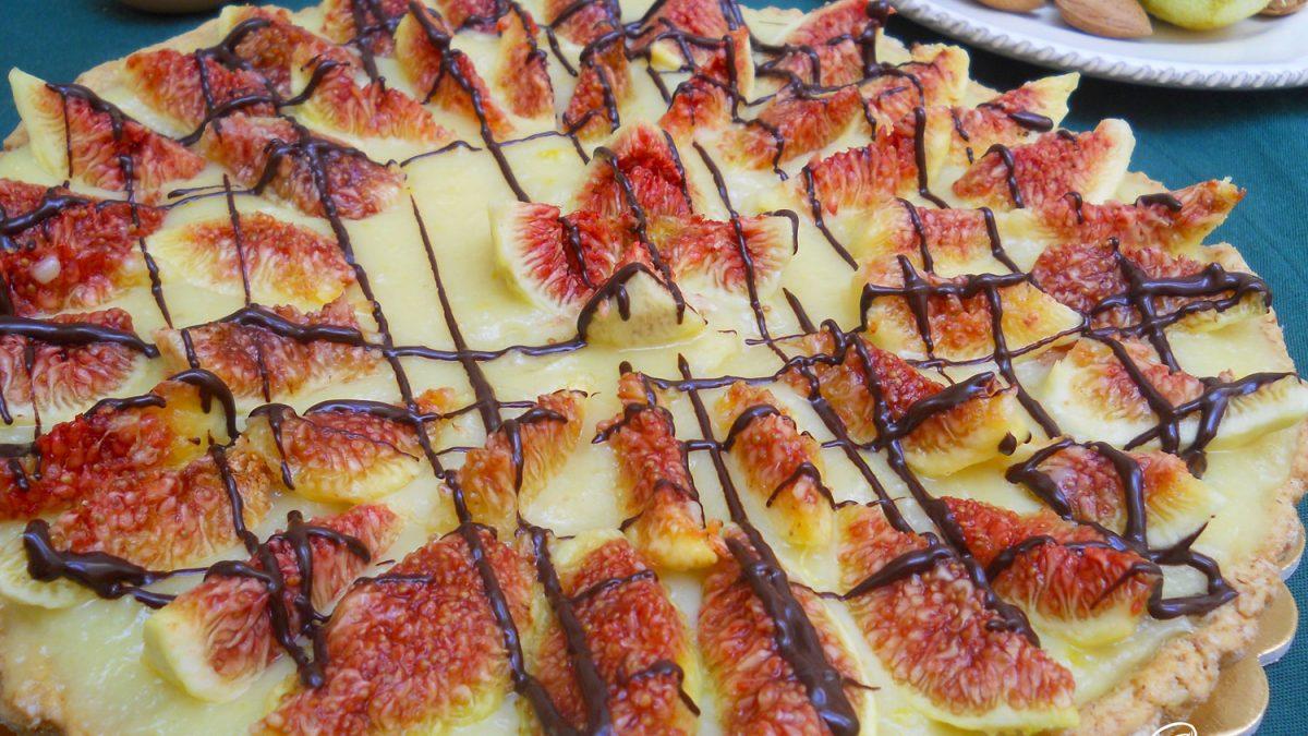 crostata con fichi freschi